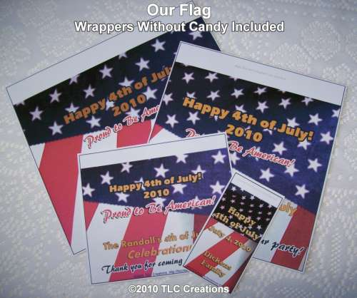 Patriotic Candy Wrappers Our Flag Patriotic