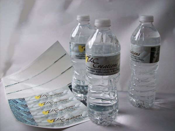Water Bottle Labels - Sheet of 7 Labels - WATER RESISTANT