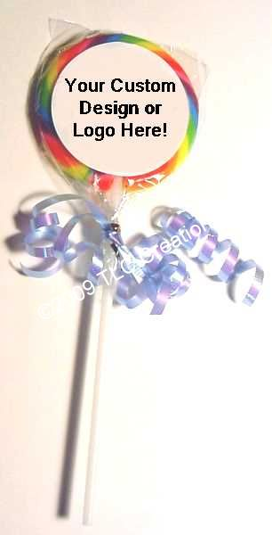 Your Photo 3 inch Swirl Lollipop Party Favor