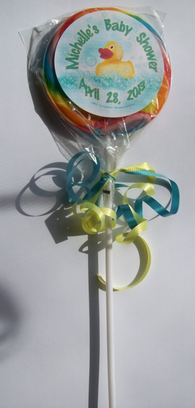 Rubber Duck 3 inch Swirl Lollipop Party Favor