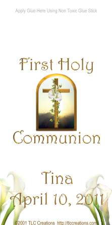 Cross at Sunrise First Holy Communion Candy Wrappers Miniature