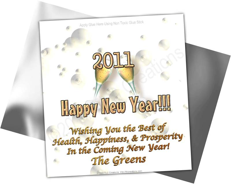 New Year Toast New Year Candy Wrappers Standard Sz New Year Toast ...